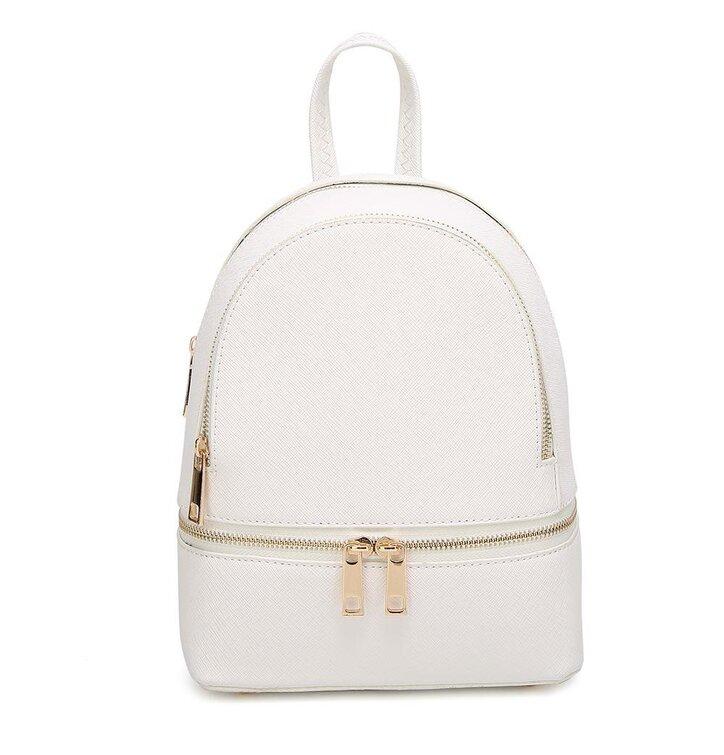 8b5a07d040 Biely ruksak z PU kože Fifi