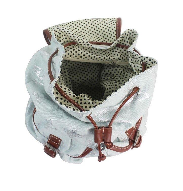 a2181362c608 a tökéletes és egyedi ruházathoz Világoskék hátizsák Ezüst pillangók