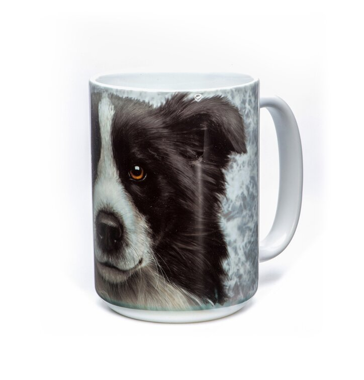 originelle tasse mit dem motiv gesicht des border collies dedoles. Black Bedroom Furniture Sets. Home Design Ideas