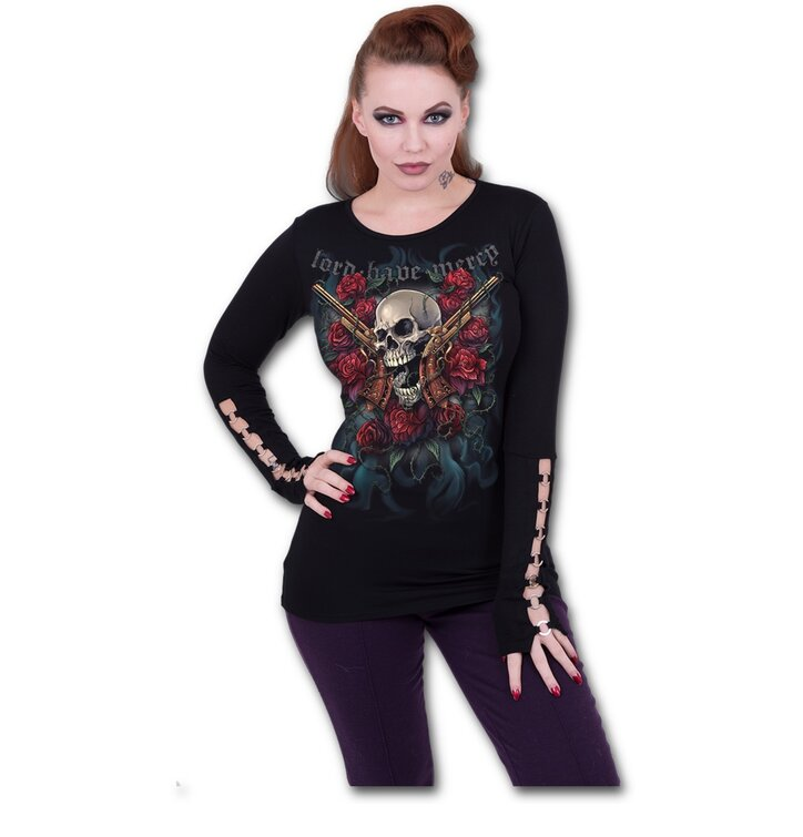 e27064a2513d Potešte sa týmto kúskom Dedoles Dámske tričko s aplikáciami Milovník zbraní