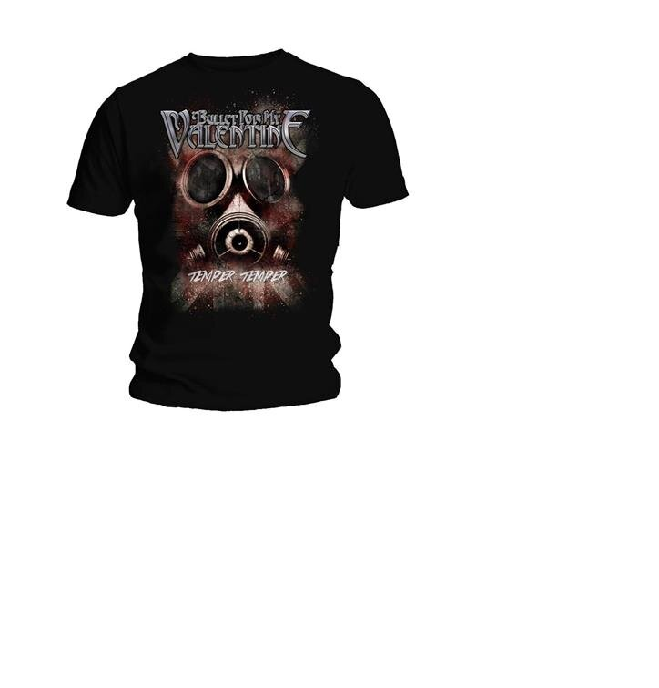 T Shirt Bullet For My Valentine Temper Temper Gas Mask Dedoles