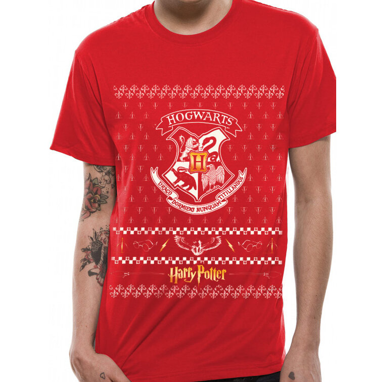 Červené tričko Harry Potter - Vianočný erb