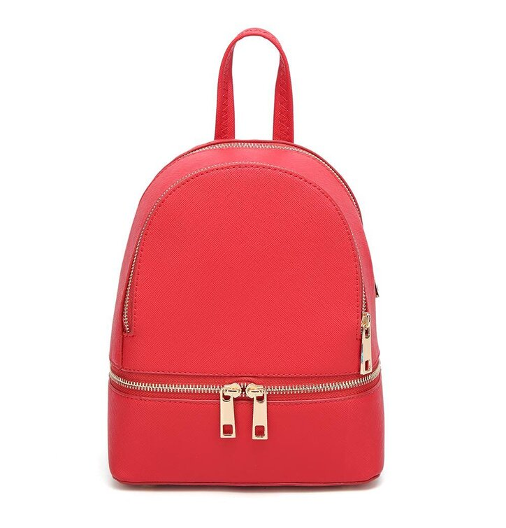 661d4ff730 Červený ruksak z PU kože Fifi