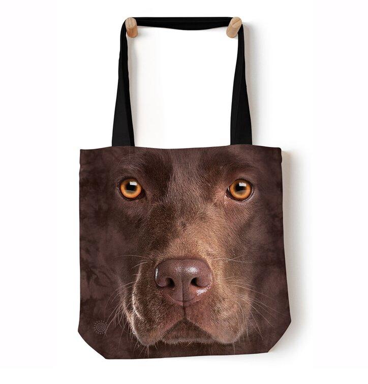 Tote taška na rameno Tvár hnedého labradora