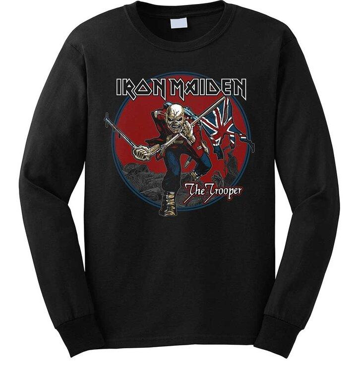 Černá mikina bez kapuce Iron Maiden Trooper Red Sky