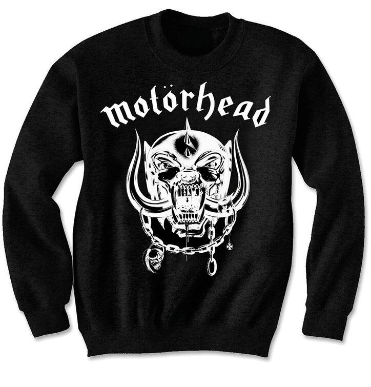 pro dokonalý a originální outfit Černá mikina bez kapuce Motorhead England d2e380f72b