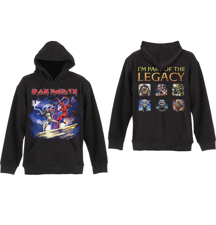 pro dokonalý a originální outfit Černá mikina s kapucí Iron Maiden Legacy  Beast Fight 5459312ff3