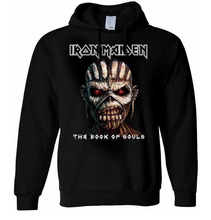 Sleva Černá mikina s kapucí Iron Maiden The Book of Souls 022ac9dd8b6