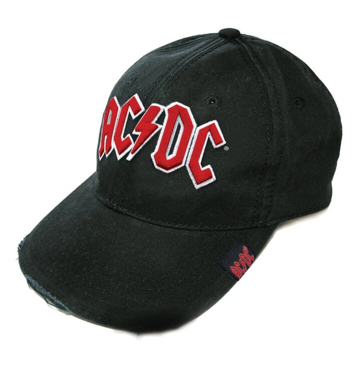Čierna šiltovka AC/DC Men's Red Logo
