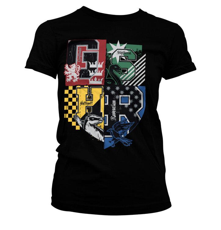 Čierne dámske tričko Harry Potter Fakulty