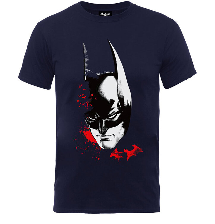 Čierne detské tričko DC Comics Batman Arkham Face