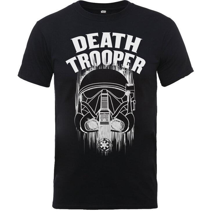 Černé detské tričko Rogue One Death Trooper