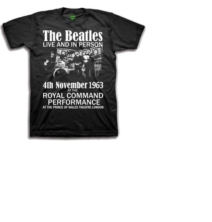 Čierne detské tričko The Beatles Live & in Person