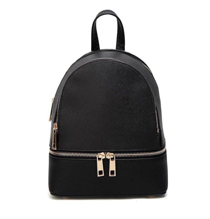 aa05d419b0 Čierny ruksak z PU kože Fifi