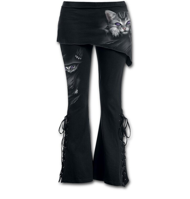 Dámské kalhoty 2v1 s motivem Kočičí drápky