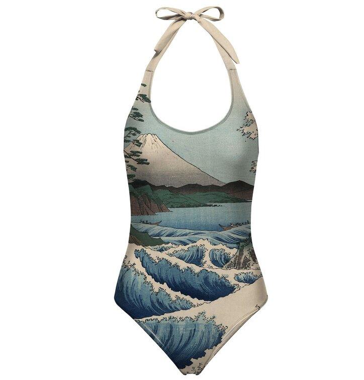 Nyitott hátú fürdőruha Satta tenger