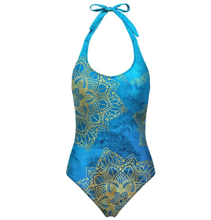 abcefa41617 Výprodej Dámské plavky s odhalenými zády Zlatý boho styl