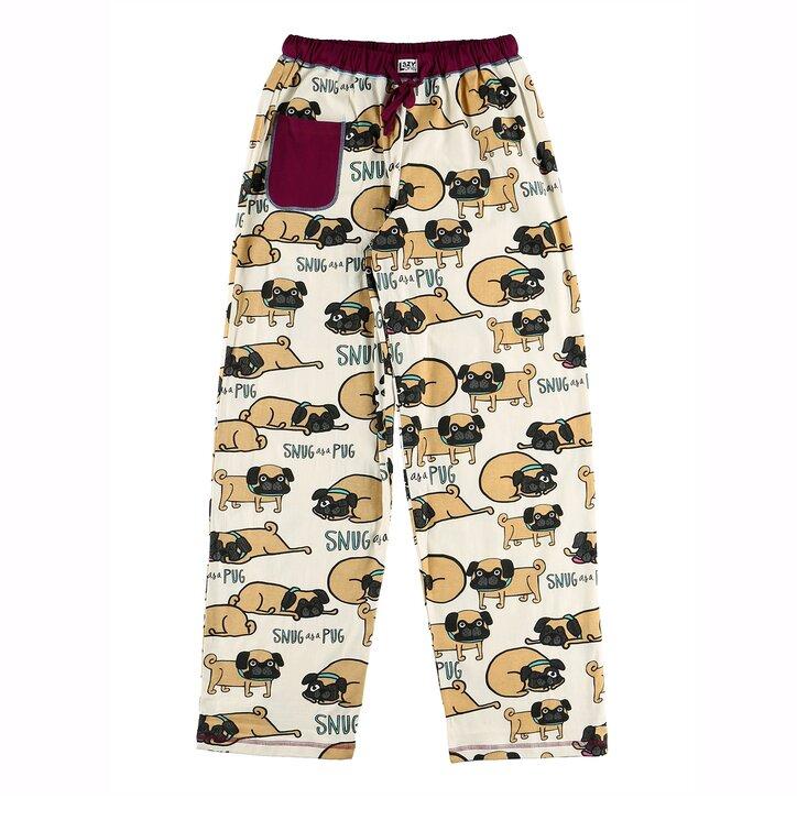 Dámske pyžamové nohavice Mopslík