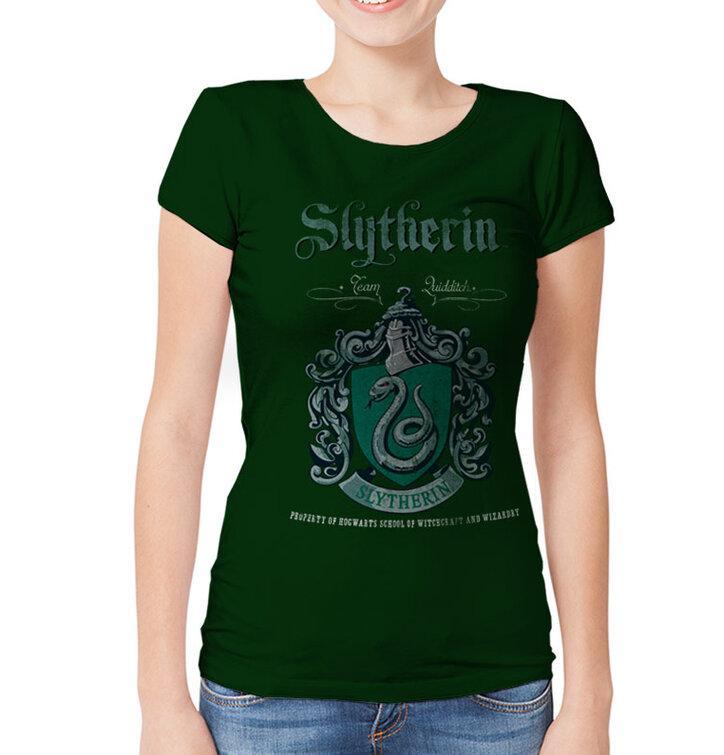 Ženska majica Harry Potter - Slytherinova metlobalska ekipa