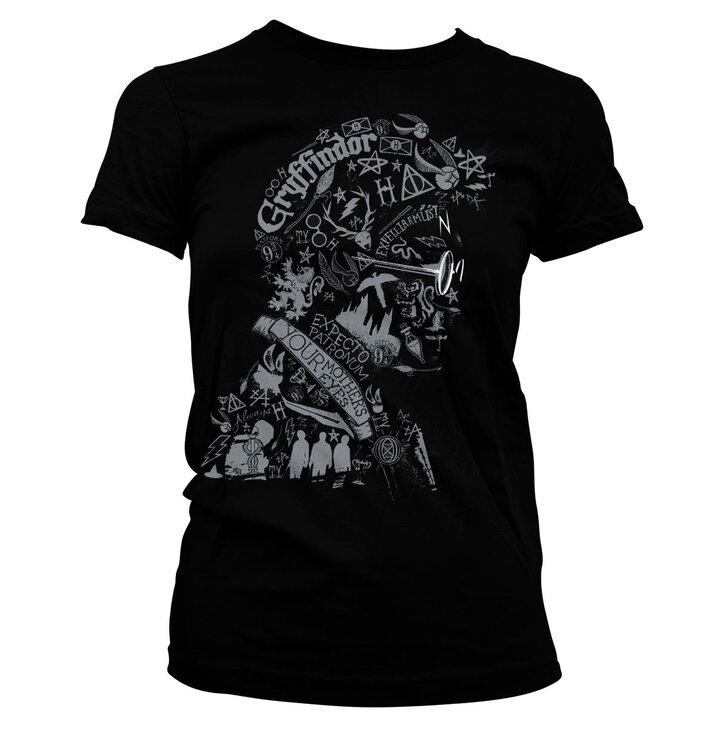 Dámske tričko Harry Potter Čarodejník zo symbolov