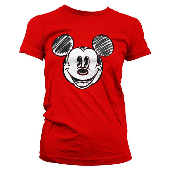 Dámske tričko Kreslená hlava Mickey Mouse