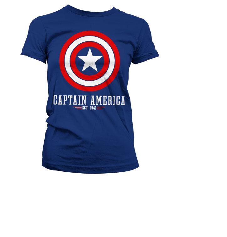 Dámske tričko Marvel Comics Captain America Logo