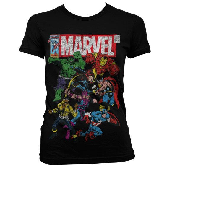 Ženska majica Marvel Comics Captain America Marvel team