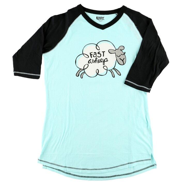 Dámske tričko na spanie počítam ovečky