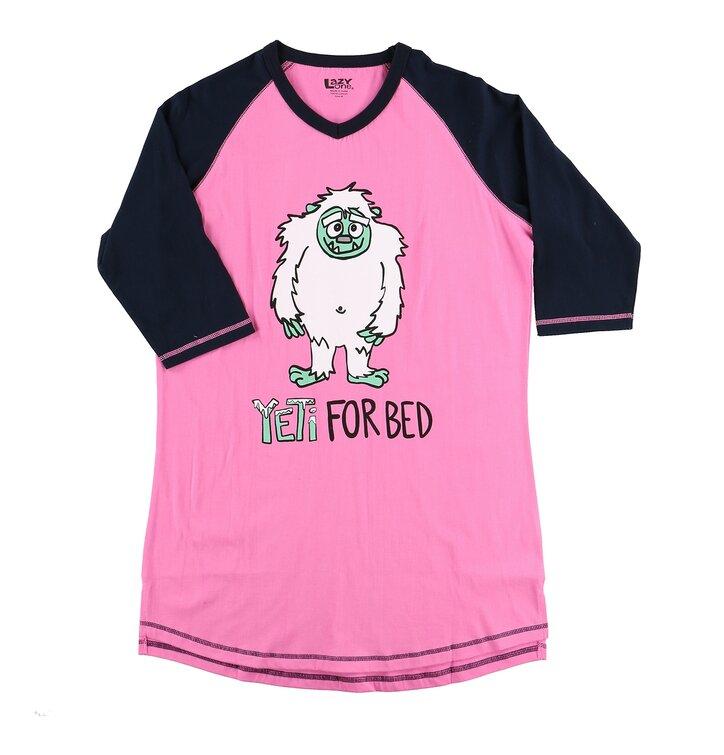 Dámske tričko na spanie Yeti
