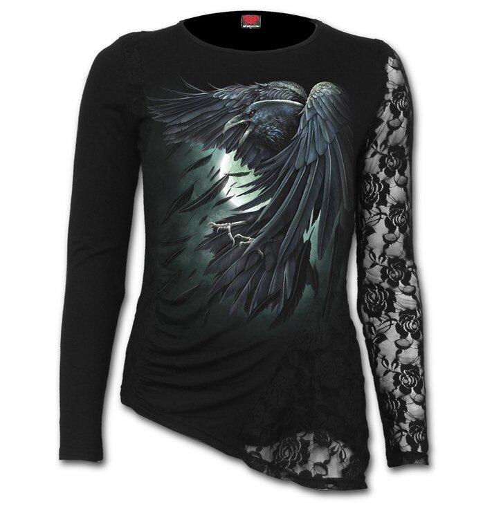 Hledáte originální a neobvyklý dárek  Obdarovaného zaručeně překvapí Dámské  tričko s dlouhým rukávem a krajkou 77ea810961