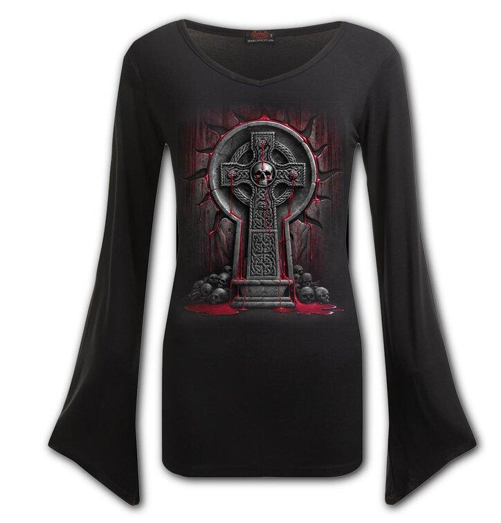 Dámské triko s véčkovým výstřihem Krvácející duše