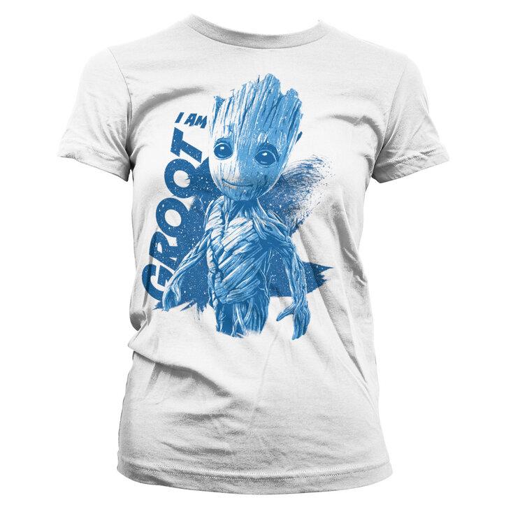 Dámské triko Strážci Galaxie I am Groot
