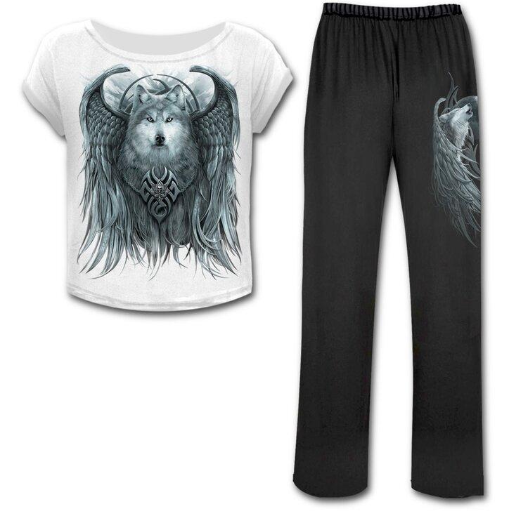 Dámsky pyžamový set Vlk s krídlami