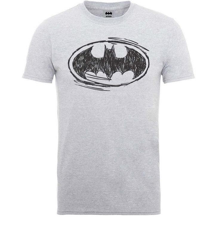 Sleva Tričko DC Comics Batman Sketch Logo a244c37958