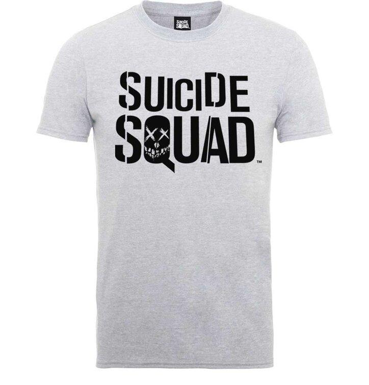 827cfd7378 Világos szürke póló DC Comics Suicide Squad Logo | Dedoles