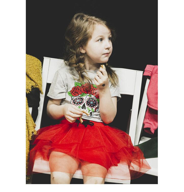 Tip na darček Detská červená sukňa z tylu 153b0d8ee6