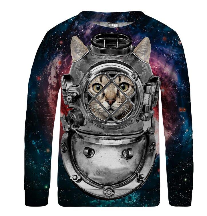 b6fca82fba83 Pre dokonalý a originálny outfit Detská mikina bez kapucne Astronaut Cat