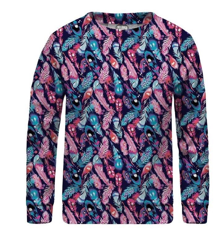 ed2175537f17 Pre dokonalý a originálny outfit Detská mikina bez kapucne Colorful Feathers