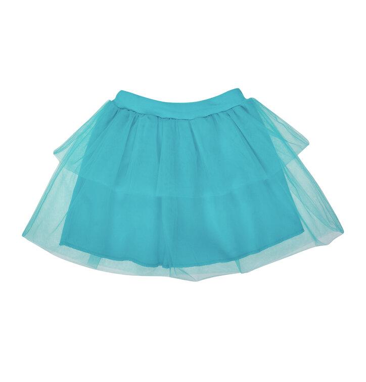 Lifestyle foto Detská modrá sukňa z tylu f17a467f67