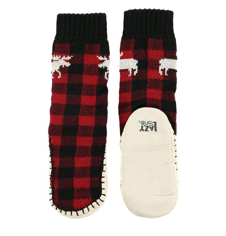 Detské ponožkové papuče Kárované losy