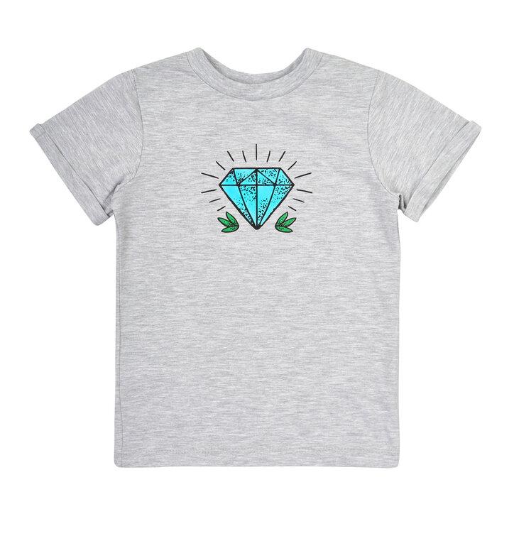 7ab7481607f Potešte sa týmto kúskom Dedoles Detské šedé tričko Diamant