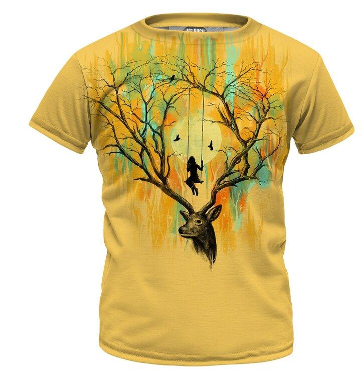fe398dd3d394 Výnimočný darček od Dedoles Detské tričko Deer Fantasies