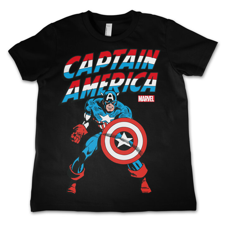 Detské tričko Marvel Comics Captain America