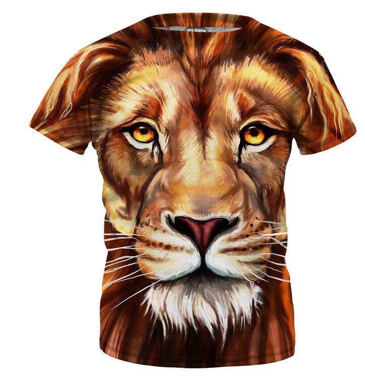 Gyerek póló Oil Painting Lion