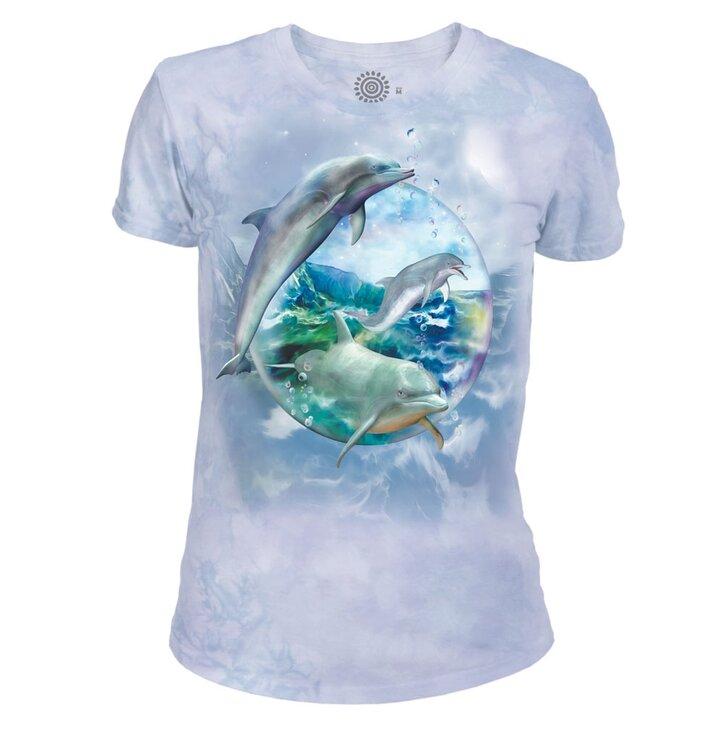 05d93ecd6623 Hľadáte originálny a nezvyčajný darček  Obdarovaného zaručene prekvapí Dámske  tri-blend tričko Delfíny v