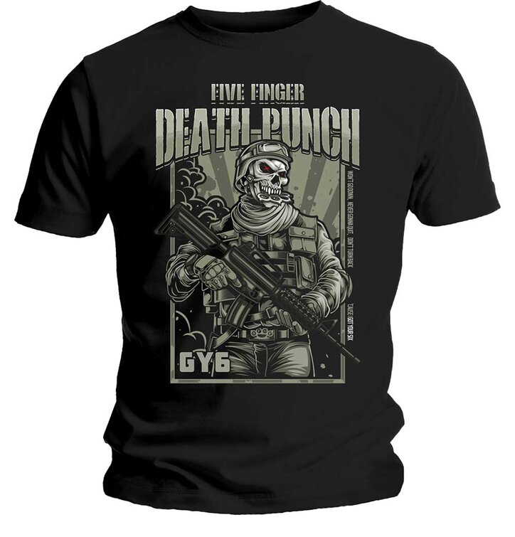 Tričko Five Finger Death Punch War Soldier