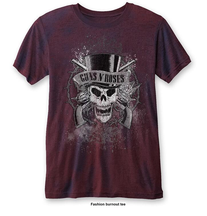 Червена Тениска Guns N' Roses Faded Skull
