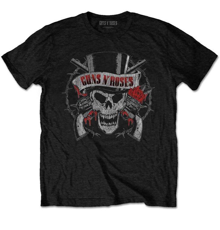 Tričko Guns N' Roses Distressed Skull
