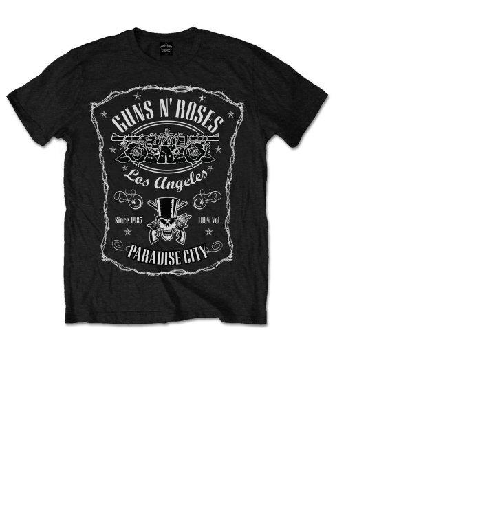 Tričko Guns N' Roses Paradise City Label