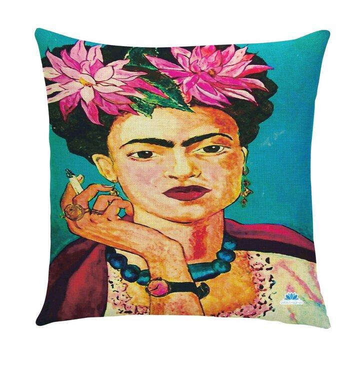Jednostranná obliečka na vankúš Frida s cigaretou